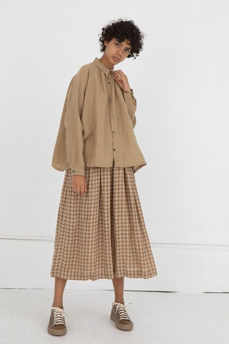 ICHI ANTIQUITES Linen Shirt - Beige