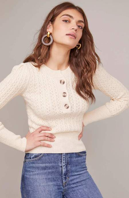 ASTR the Label Aspen Sweater - Cream