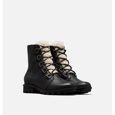 Sorel Phoenix Short Lace Cozy Boot - Black