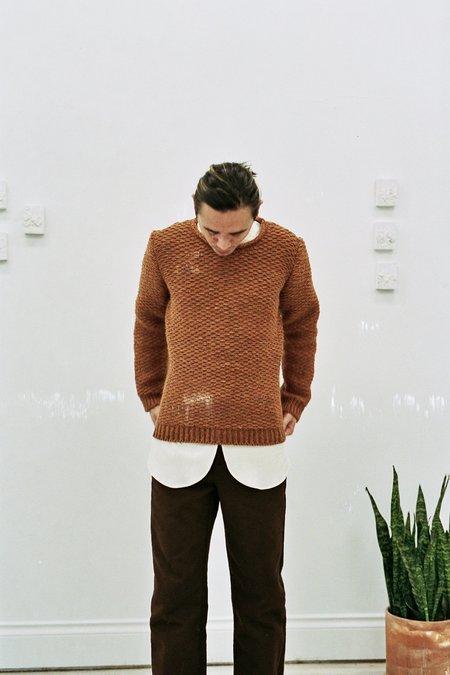 Frank Leder Knit Pullover - Copper