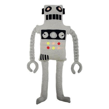 kids meri meri ziggy robit knitted toy