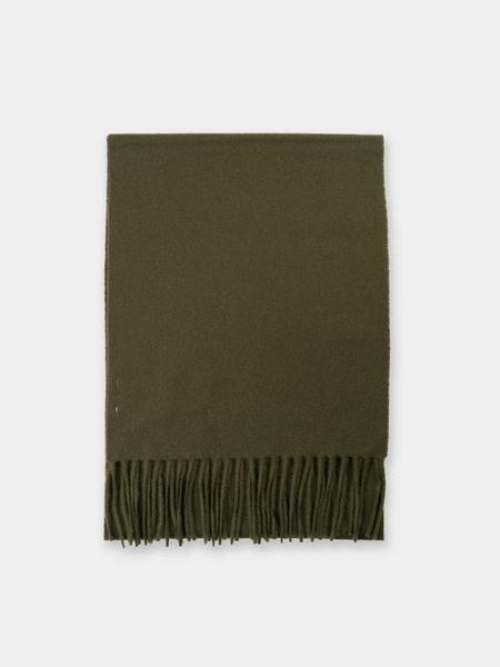 Unisex Norse Projects Lambswool Scarf - Beech Green