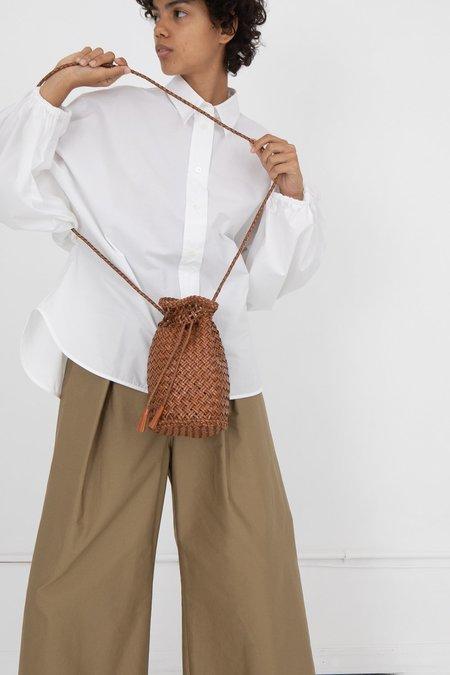 Dragon Diffusion Weligama Handwoven Pompom Diagonal Weave - Tan