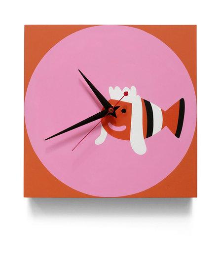 Evah Fan Mullet Fish Clock