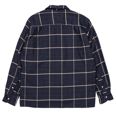 Gitman Bros. Cotton Houndstooth Tweed Shirt - Navy