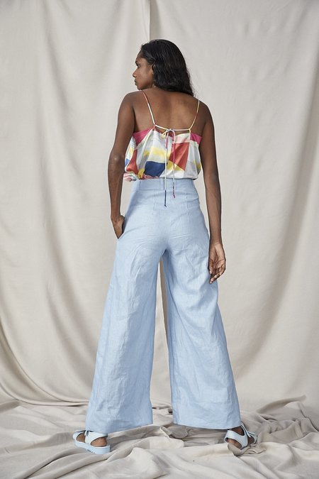 Lois Hazel Fold Trousers - Sky Blue