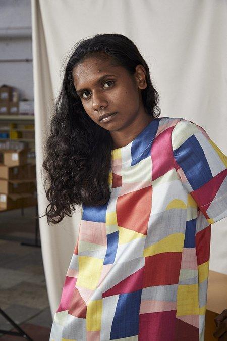 Lois Hazel Smooth Dress - Colourblock