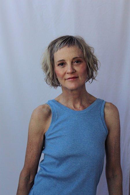 Lois Hazel Smooth Rib Tank - Blue