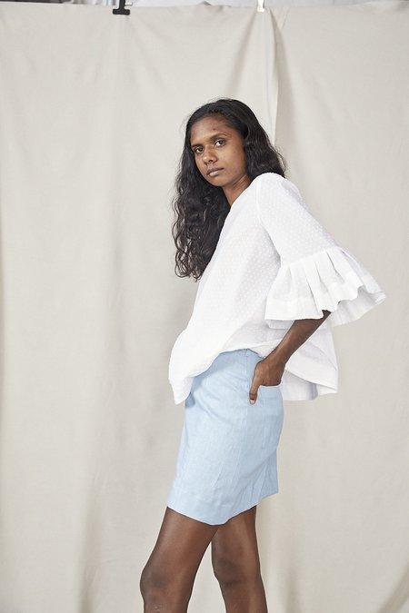 Lois Hazel Smooth Skirt - Sky Blue