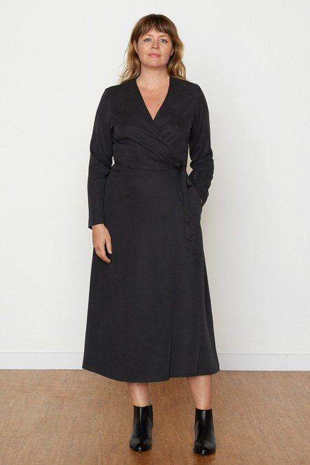 North Of West Louisa Wrap Dress - Black