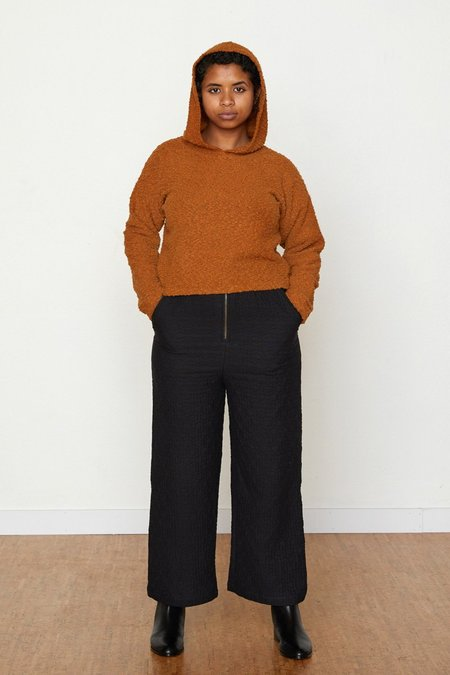 North Of West Pebble Knit Janet Cropped Hoodie - Toffee