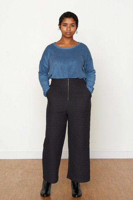 North Of West Quilted Allison Pant - Black