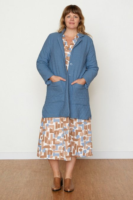 North Of West Quilted Frankie Coat - Slate