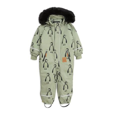 kids mini rodini kebnekaise penguin overall - green