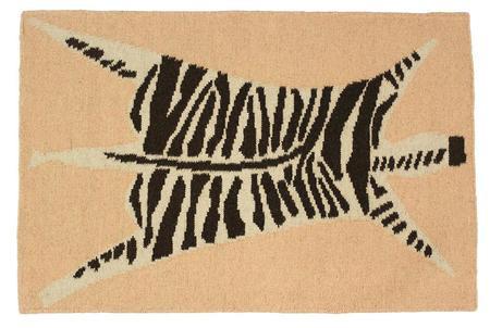 Cold Picnic Zebra Flat Weave Rug
