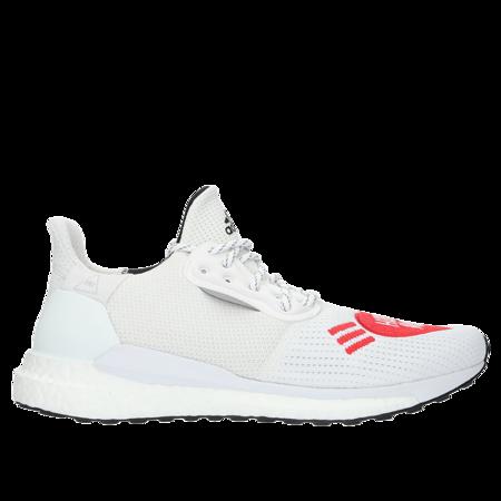 Adidas x Pharrell Williams Solar HU Human Made Sneaker - Footwear White/Scarlet