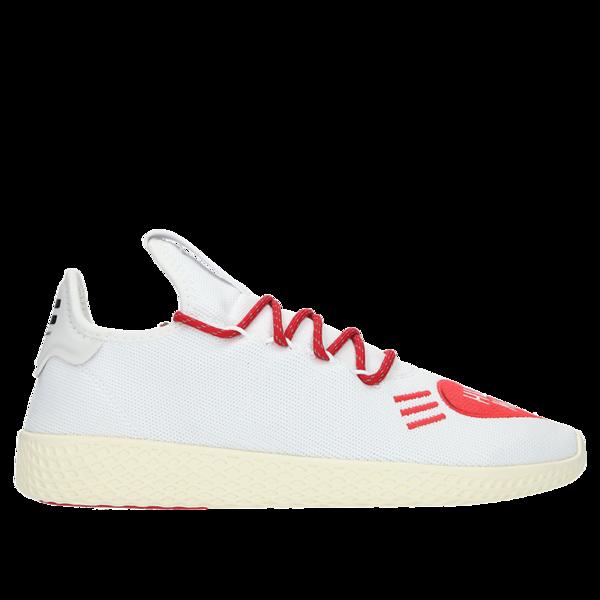 new images of new york big discount Adidas x Pharrell Williams Human Made Tennis HU Sneaker - Footwear  White/Scarlet on Garmentory