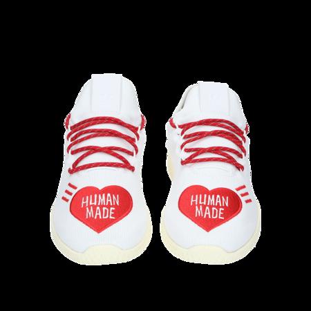 Adidas x Pharrell Williams Human Made Tennis HU Sneaker - Footwear White/Scarlet