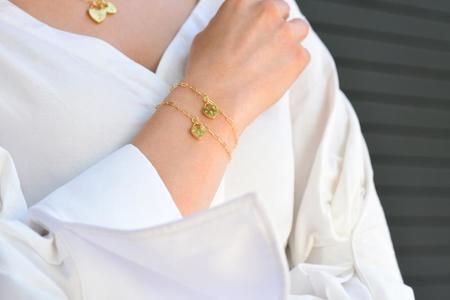Electric Picks Capulet Bracelet  - 14k Gold
