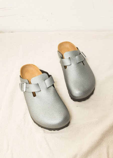 Birkenstock Boston Birko-Flor Sandal - Icy Metallic Anthracite