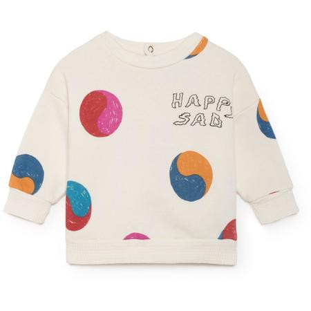 Kids bobo choses baby yin yang round neck sweatshirt - Off White/Multicolor