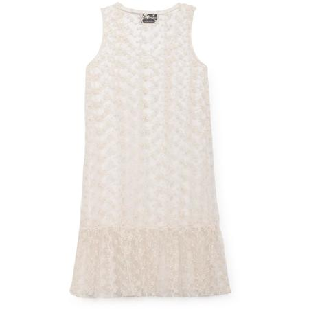 Kids bobo choses tulle dropped waist dress - White