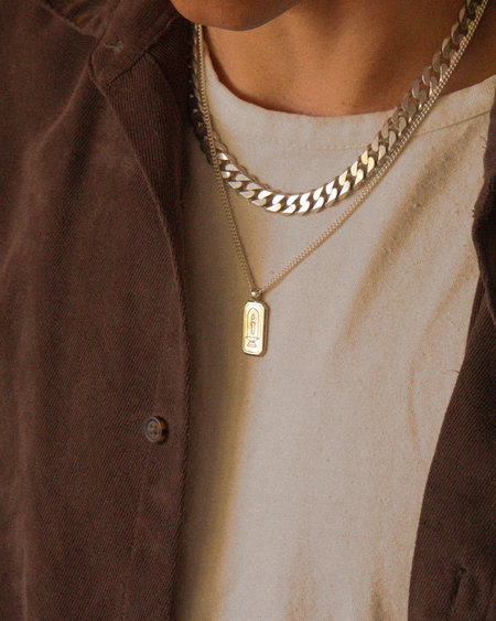Unisex apse LAMPSTAND NECKLACE - TIGERS EYE