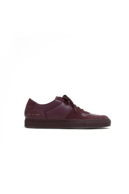 Common Projects Bball Low Premium - Bordeaux