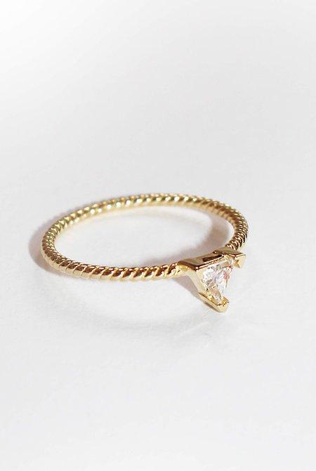 Grace Chou Triangle Twist Ring - 14K Gold