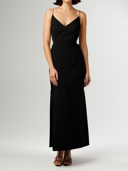 Christopher Esber Wire Back Column Dress - black