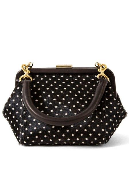 Clare V. Hair-On Le Box Bag - Swiss Dot