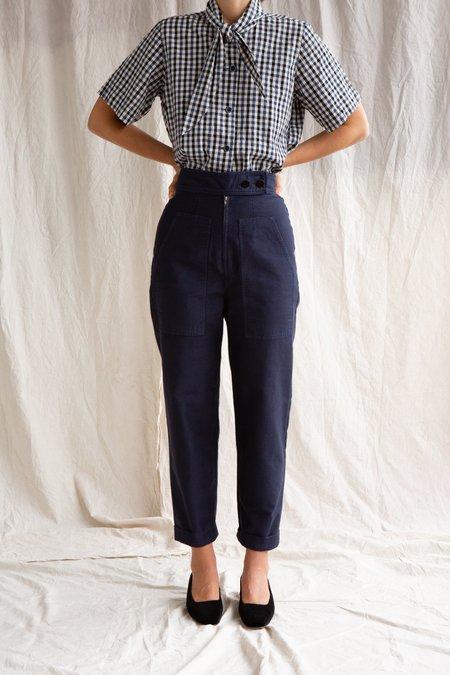 Caron Callahan Emi Cotton Twill Pant - Navy