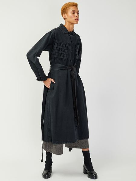 Bernhard Willhelm Lattice Trench - Black