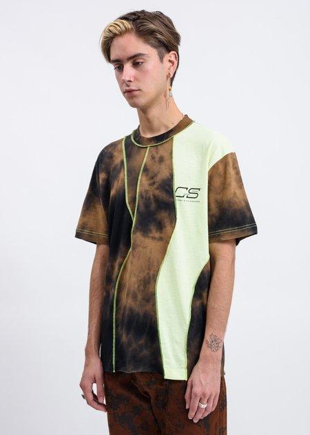 CMMN SWDN Raz Tie Dye Knitted T-Shirt - Brown