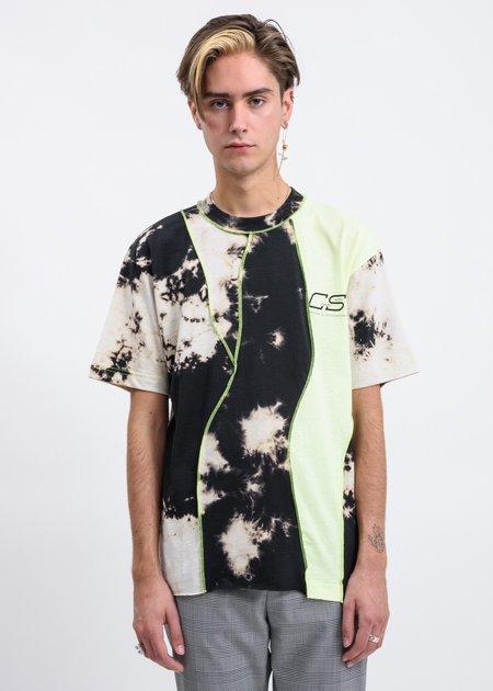 CMMN SWDN Raz Tie Dye Knitted T-Shirt - Grey