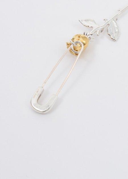 Ambush Rose Charm Earring - Silver