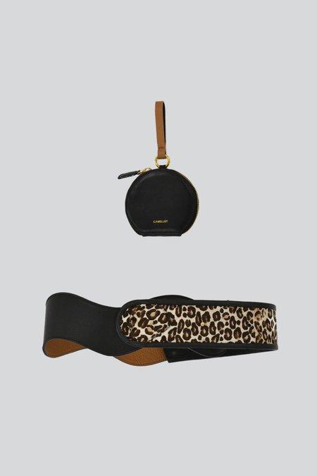 CAMELLÉT Monederos Belt - Black/Cheetah