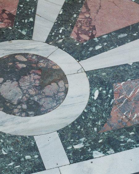 Vintage Cuore di Mare Pendant Necklace - Fossil Agate