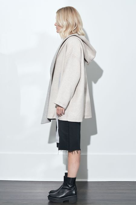 French Connection Daralicia Wool Jacket - Oatmeal Mel/Light Grey