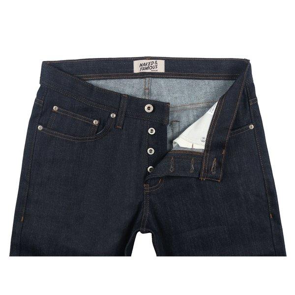 Naked & Famous Cashmere Blend Stretch Denim Jeans - Indigo