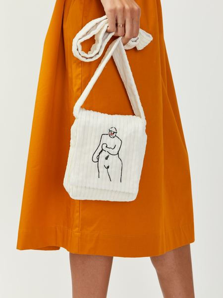 Bernhard Willhelm Cord Figure Bag - Off White