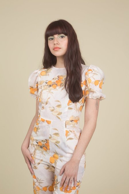 Samantha Pleet Garden Jumpsuit - Citrus Print