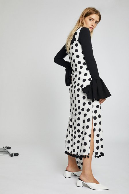 Mother of Pearl Jane Dress - White/Black