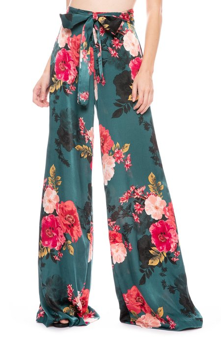 Misa Los Angeles Aliya Pant - Green Floral