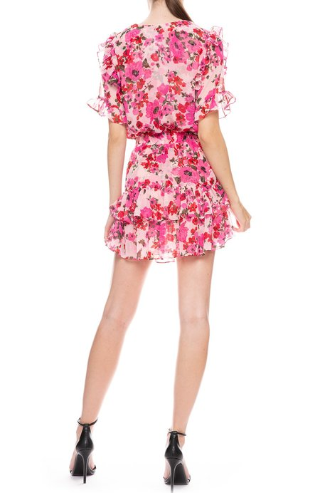 Misa Los Angeles Devan Mini Dress - PINK FLORAL