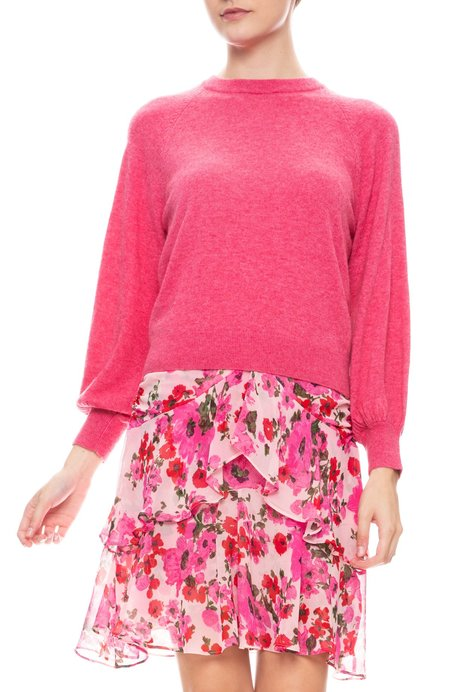 Misa Los Angeles Landri Wool Blend Sweater - PEONY