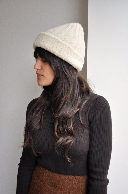 Wol Hide Rib Hat - White