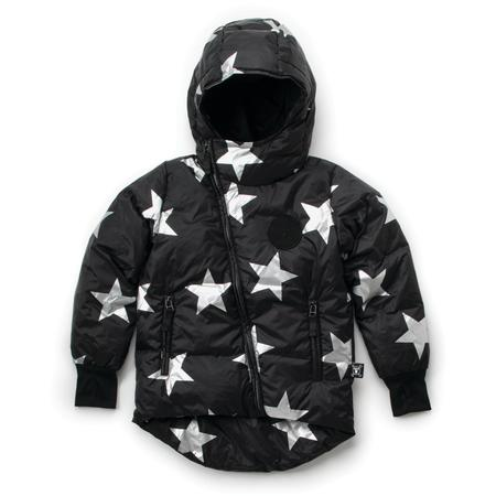 Kids Nununu Silver Star Down Jacket - Black