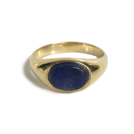 Tarin Thomas artie Ring - Yellow Brass/Sodalite