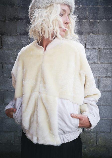 Berenik Limited Edition Faux Fur Pilot Jacket - White